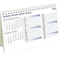 Calendrier de bureau chevalet 2021 International Memo