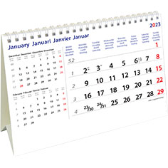 Calendrier de bureau chevalet 2021 International
