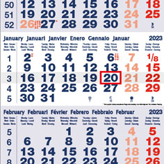 Calendriers mensuels
